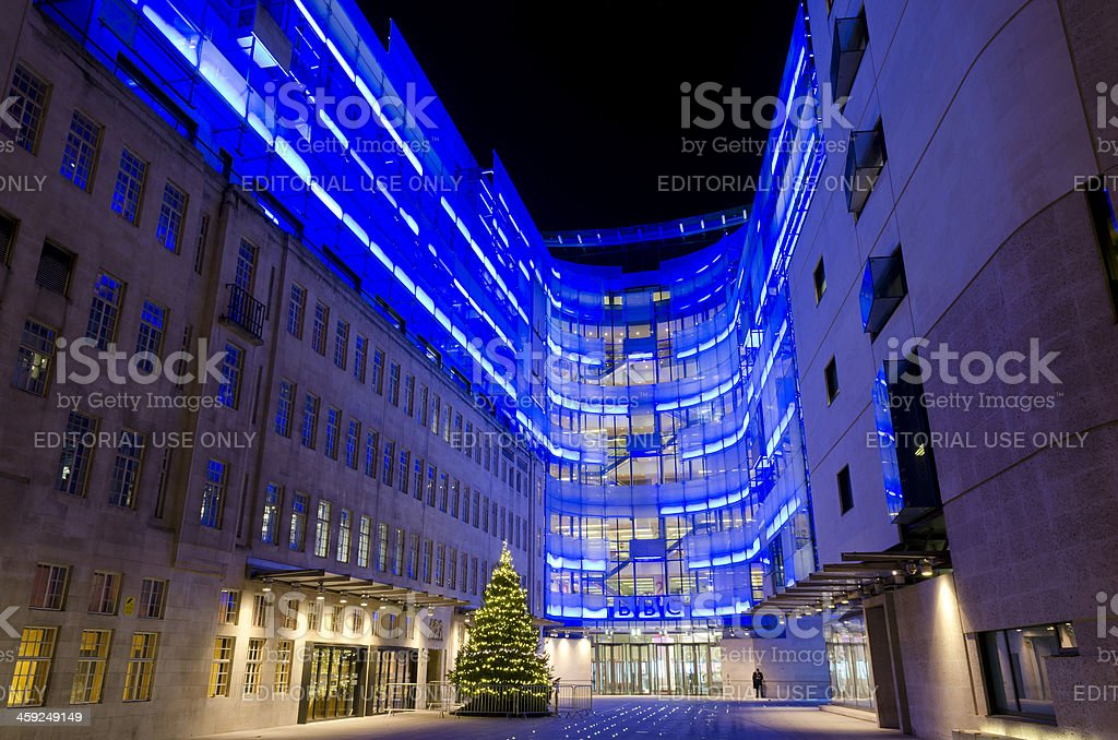 BBC Broadcasting house extension, London royalty-free stock photo