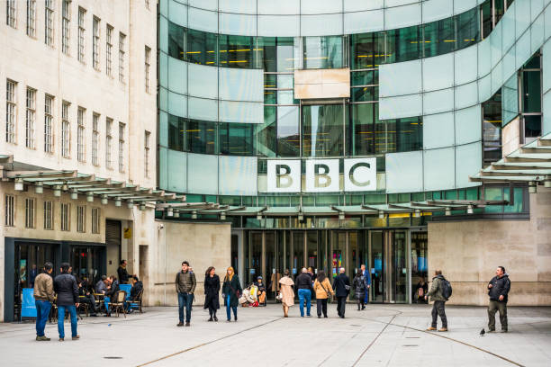 BBC Broadcasting House in London stock photo