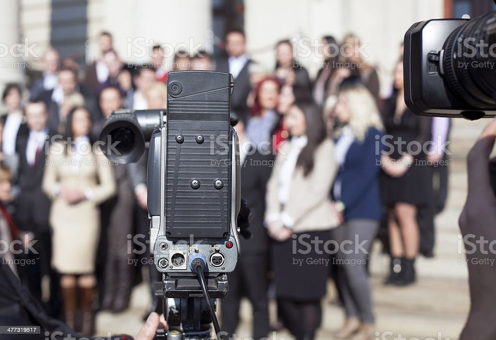 TV broadcasting royalty-free stock photo