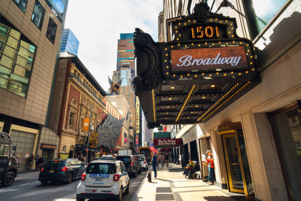 1501 Broadway, also Known as the Paramount Building. Time Square, New York City stock photo