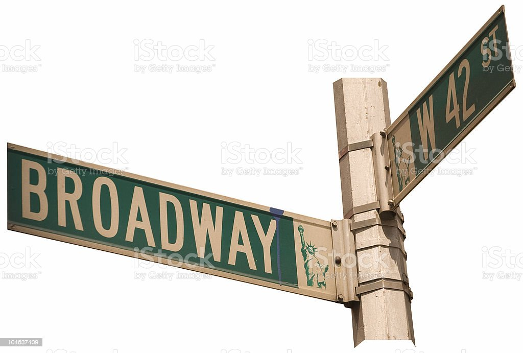 Broadway and 42nd Street - Isolated royalty-free stock photo