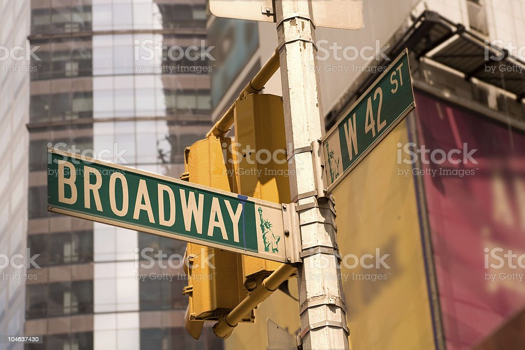 Broadway and 42nd Street royalty-free stock photo