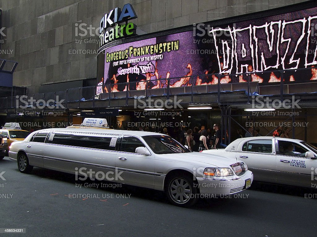 Broadway at the night. Motion blur royalty-free stock photo