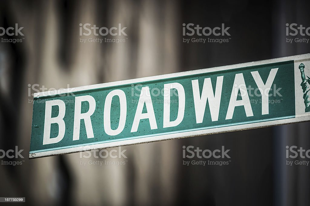 Broadway avenue sign, New York City, USA royalty-free stock photo