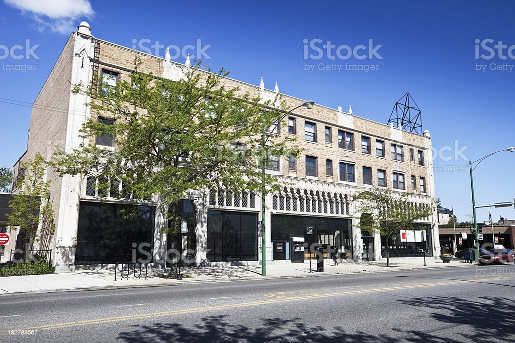 Broadway Bank in Edgewater, Chicago North Side royalty-free stock photo