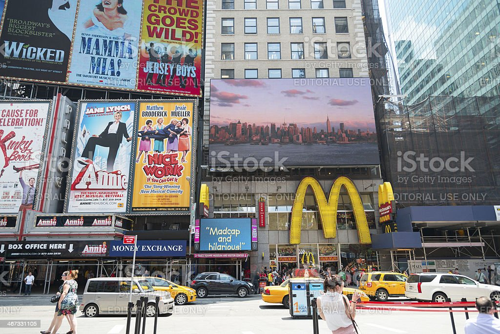 Broadway Billboards royalty-free stock photo