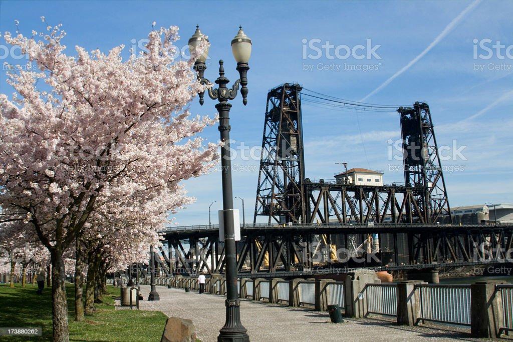 Broadway Bridge Portland Oregon royalty-free stock photo