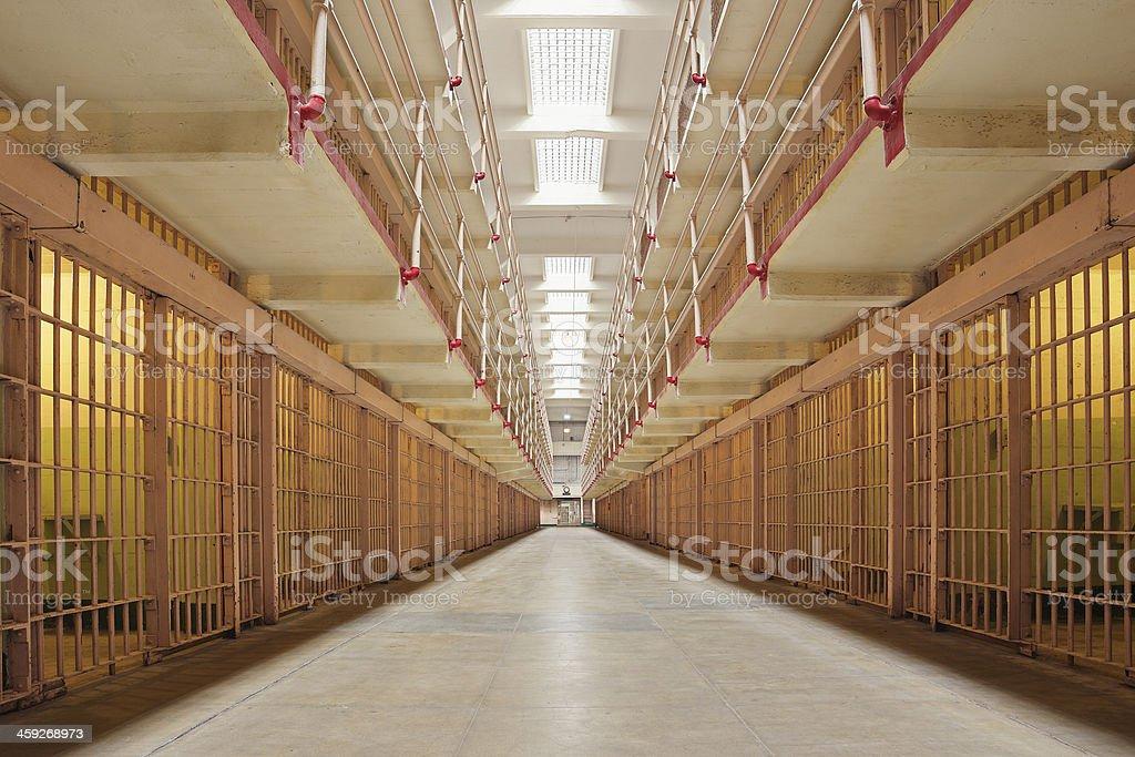 Broadway Corridor - Alcatraz stock photo