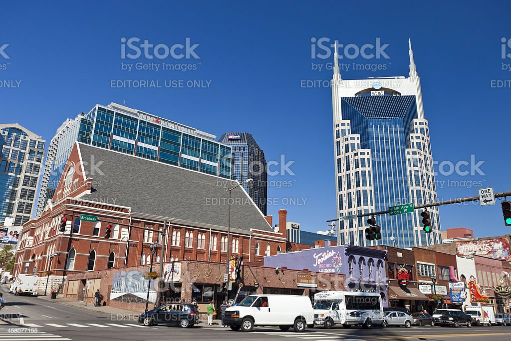 Broadway In Nashville, Tennessee stock photo