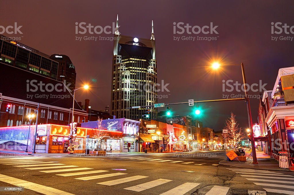Broadway in Nashville Tennesssee stock photo