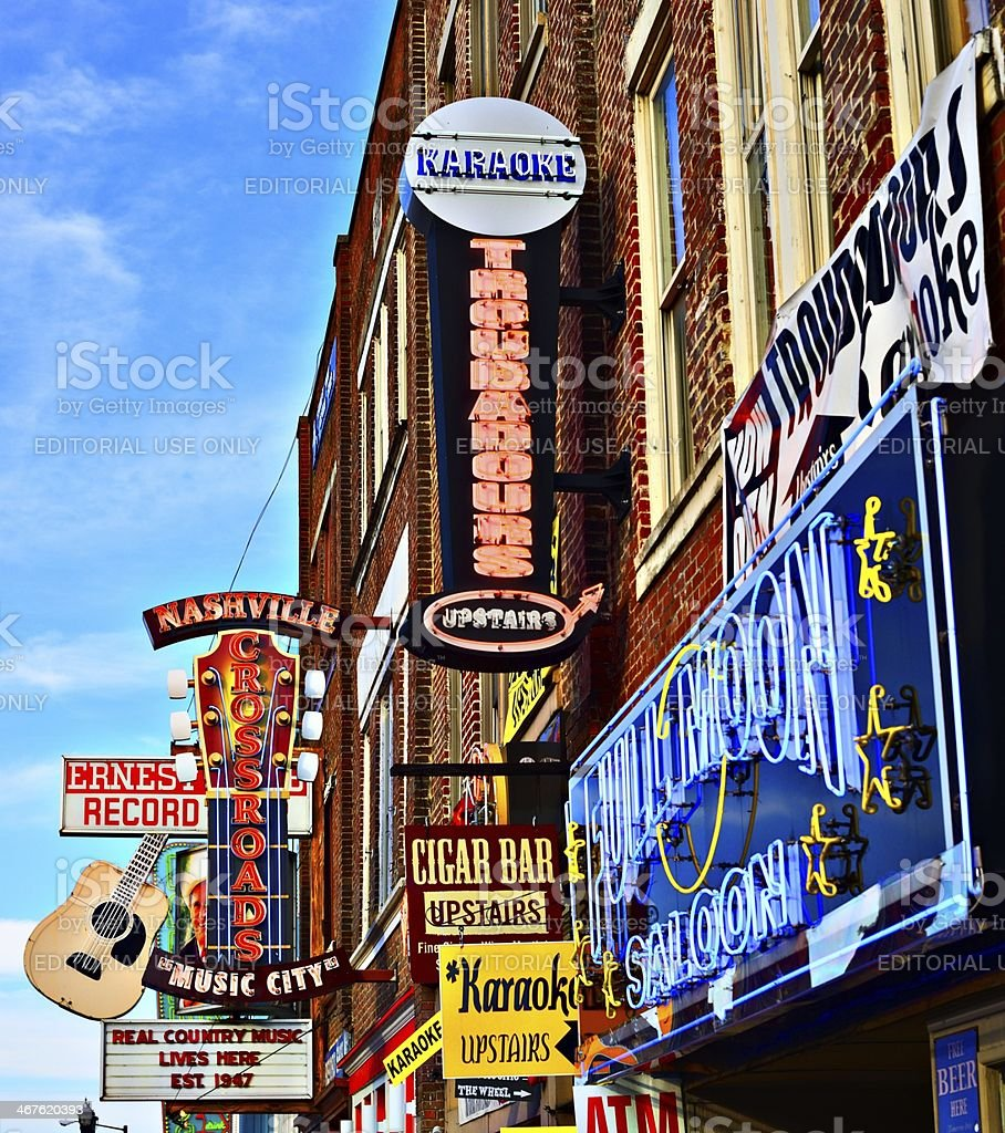 Broadway Nashville royalty-free stock photo