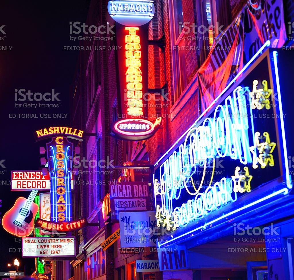 Broadway Nashville royalty-free stock photo