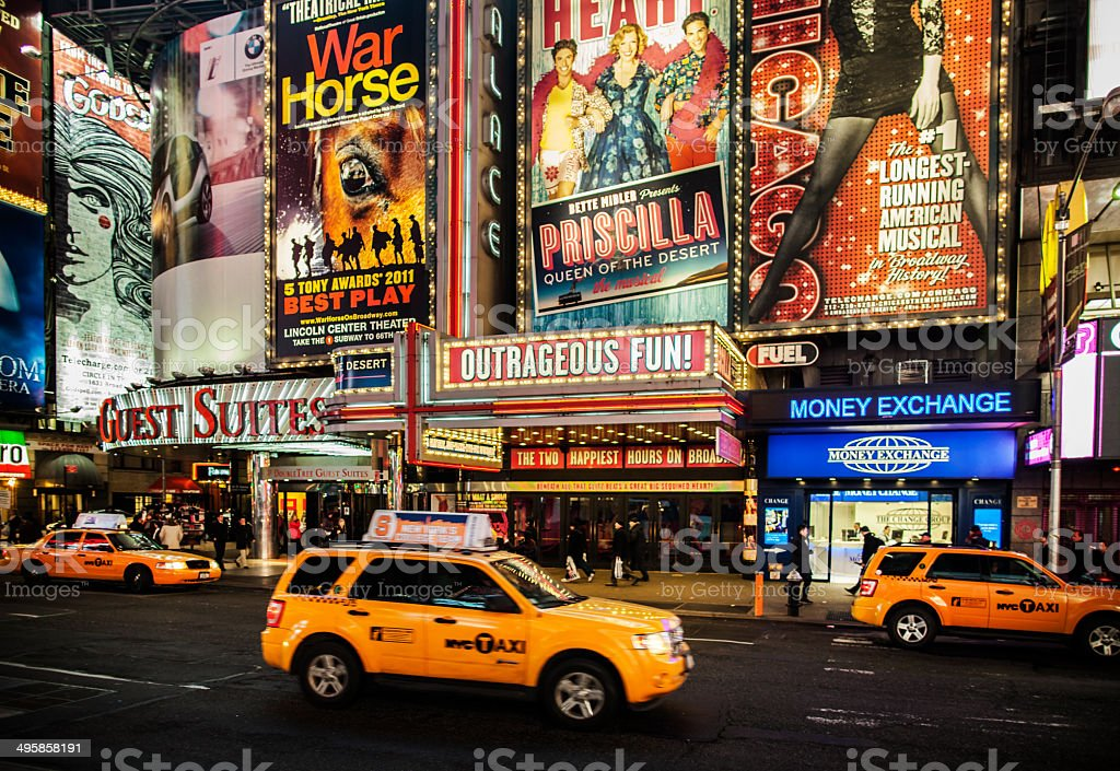 Broadway royalty-free stock photo