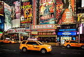 Broadway theatres in Times Square New York city