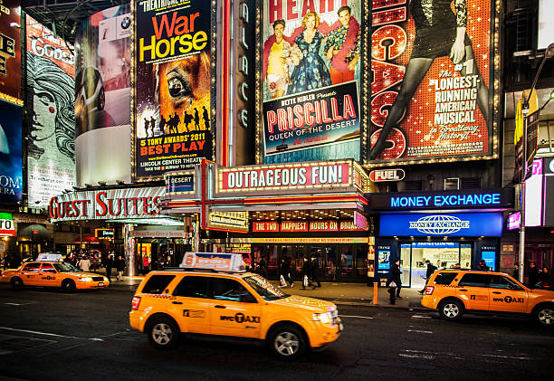 broadway - aluxum stock pictures, royalty-free photos & images