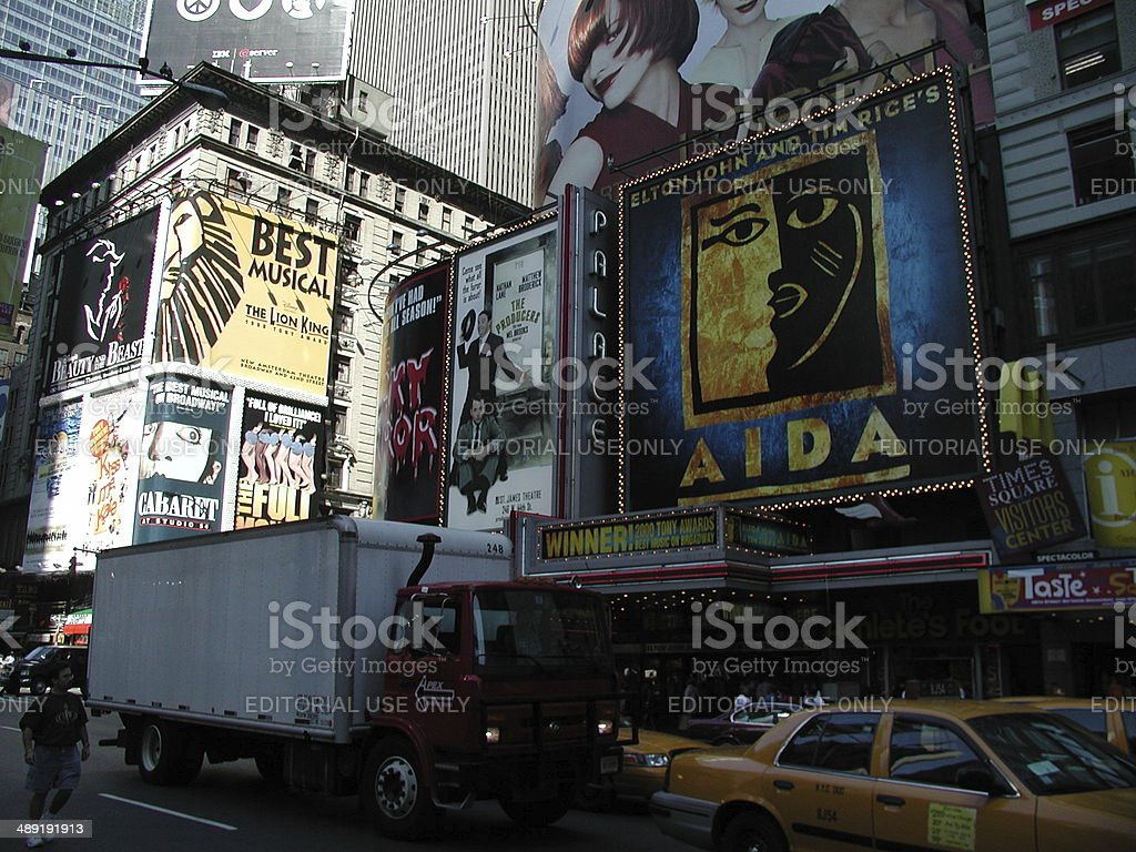 Broadway Plays of 2001 Times Square stock photo