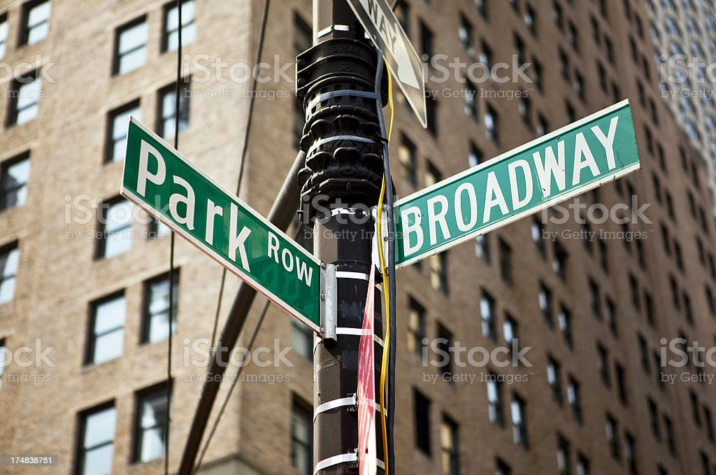 Broadway sign in New York City stock photo