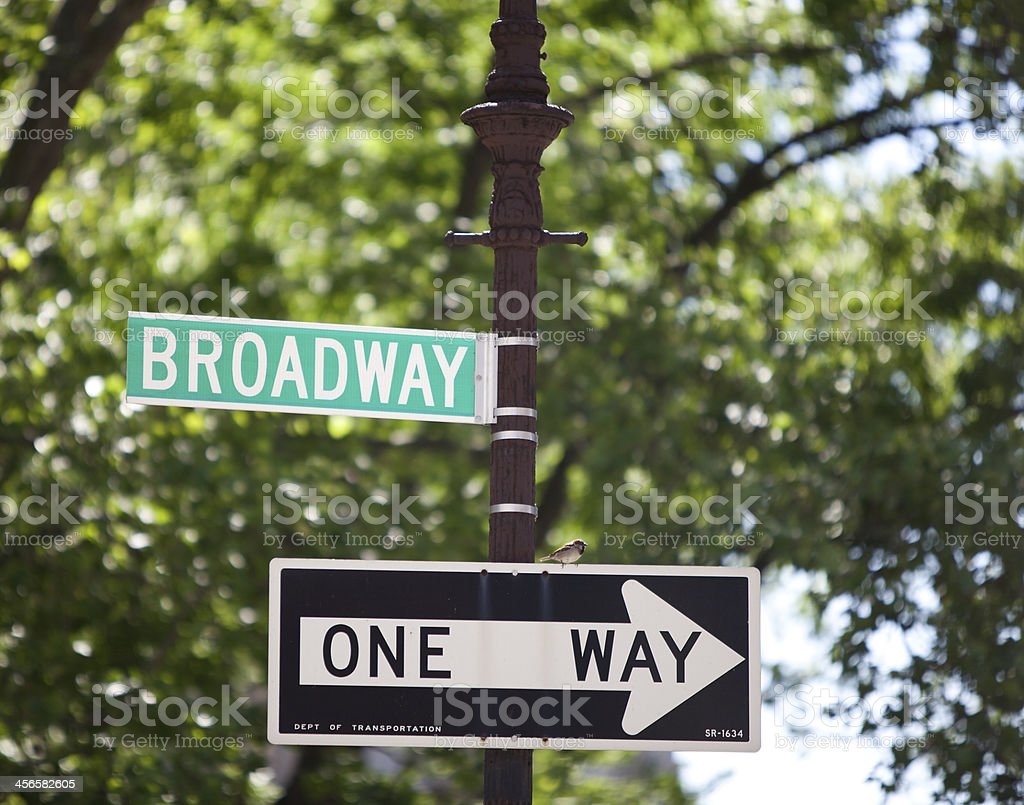 Broadway sign, New York City stock photo