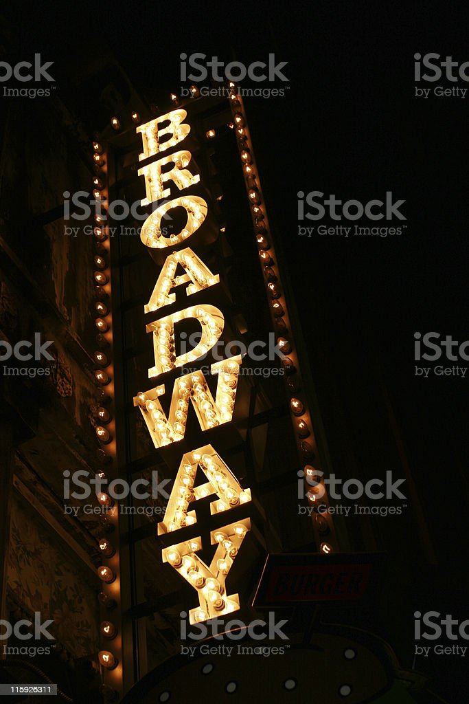 Broadway sign stock photo