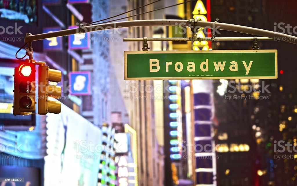 Broadway sign royalty-free stock photo