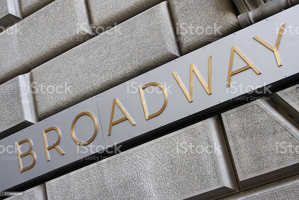 Broadway sign # 4 royalty-free stock photo