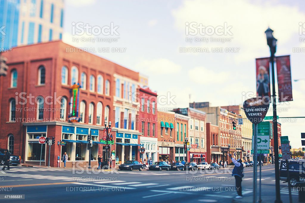 Broadway Street in Nashville stock photo