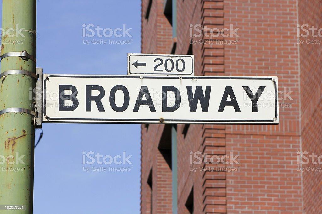Broadway Street in San Francisco, California royalty-free stock photo
