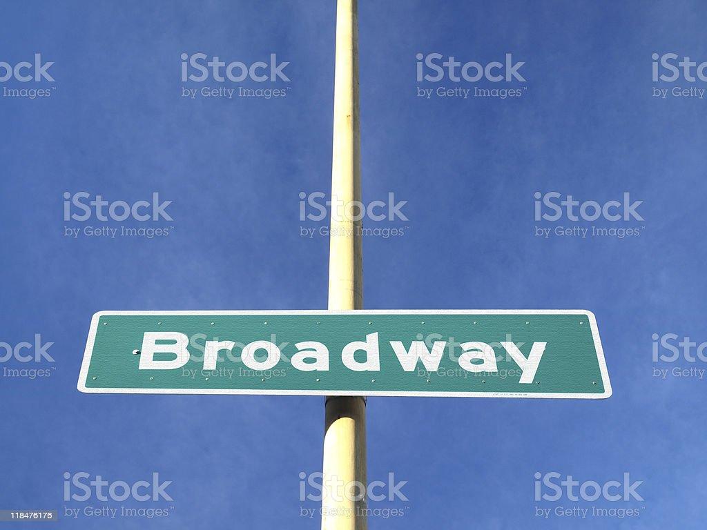 Broadway Street Name Sign royalty-free stock photo