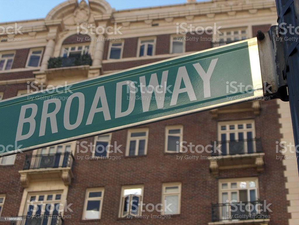 Broadway Street Sign royalty-free stock photo