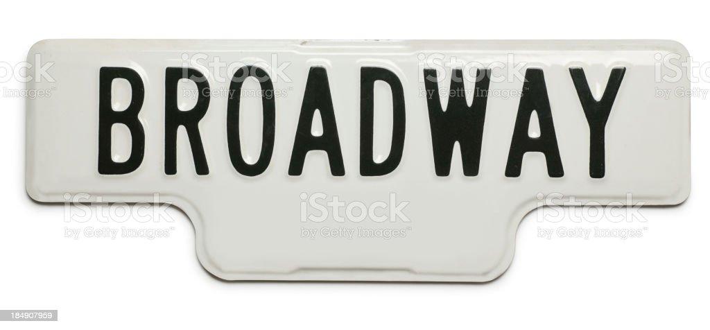 Broadway Street Sign stock photo