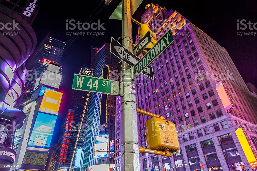 Broadway Street Signs stock photo