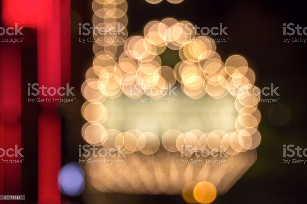 Broadway Theater Marquee Lights Bokeh stock photo