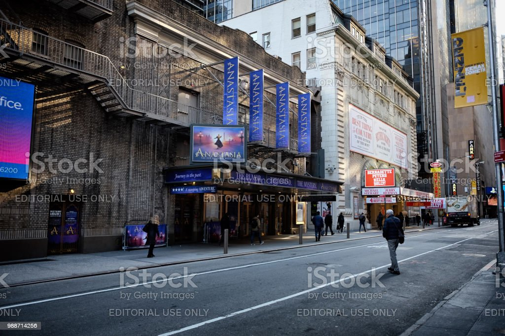 Broadway theatre in New York City stock photo
