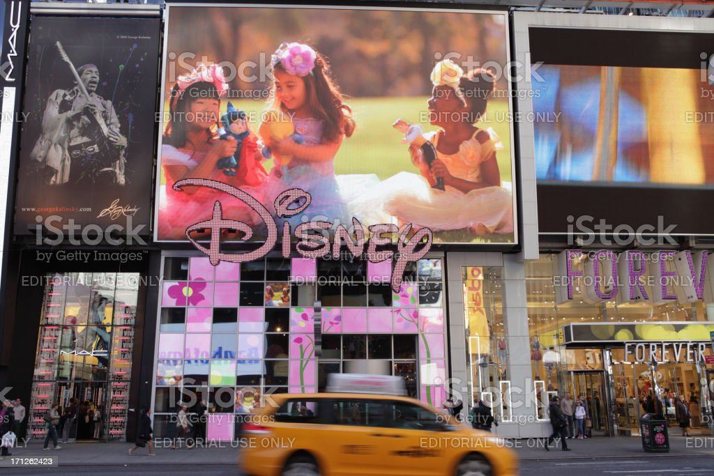 Broadway Times Square NYC Disney Store stock photo