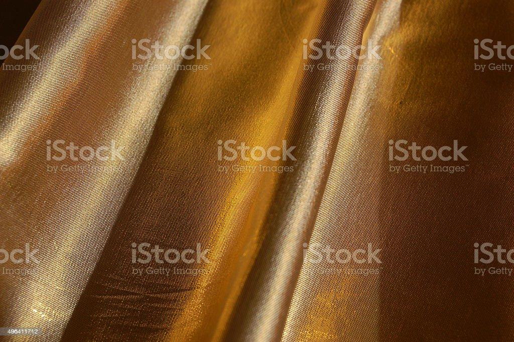 Brocado. Tecido. Seda. Ouro - foto de acervo