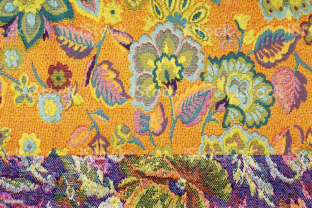 textura de tecido brocado - foto de acervo