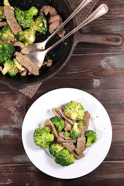 broccoli and beef stock photo