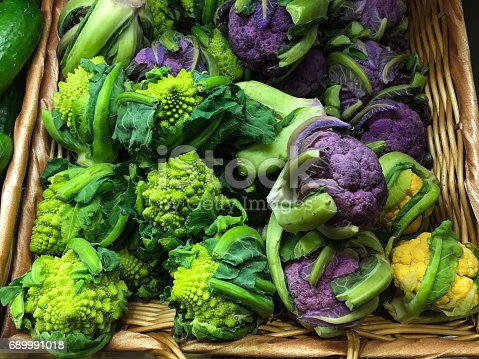 Different kind of Broccoli and cauliflower