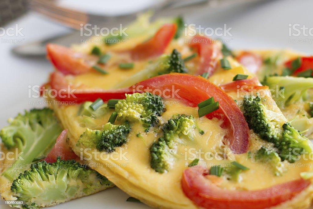 Broccoli and Tomato Omlette royalty-free stock photo