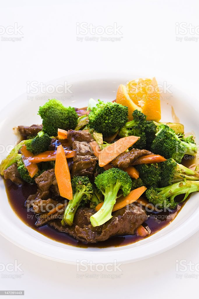 Broccoli Beef stock photo