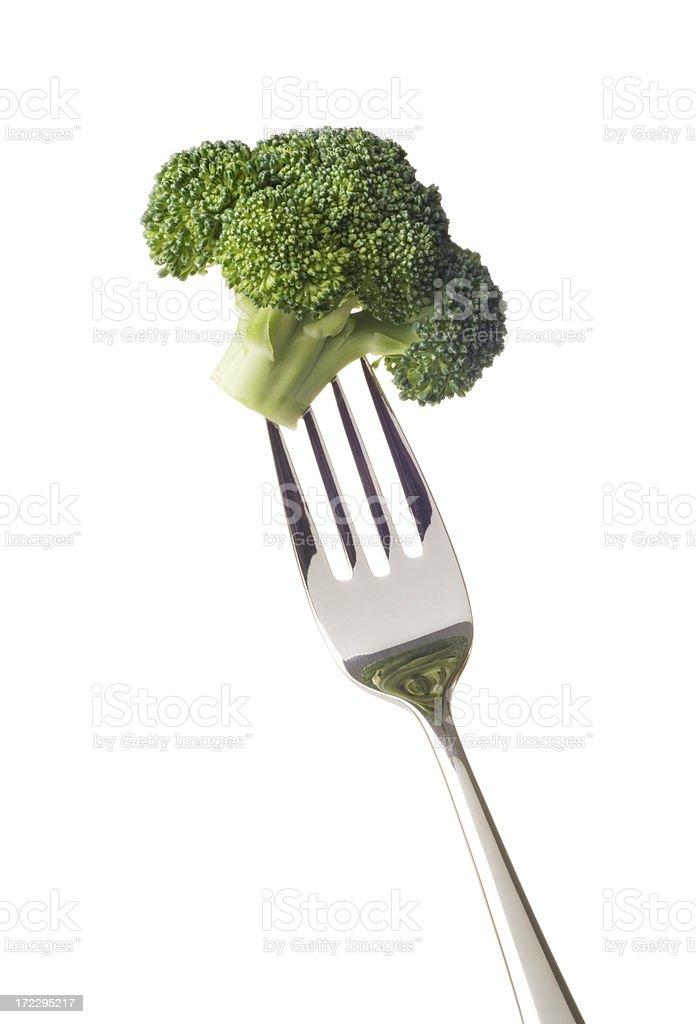 Broccoli Bite royalty-free stock photo