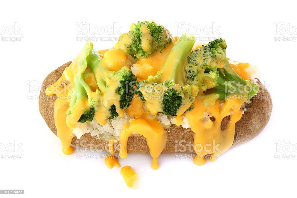 Broccoli Cheddar Baked Potato stock photo