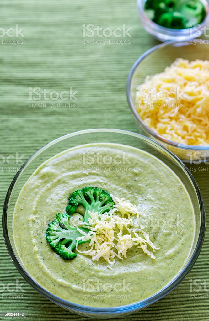Broccoli Cheese Soup royalty-free stock photo