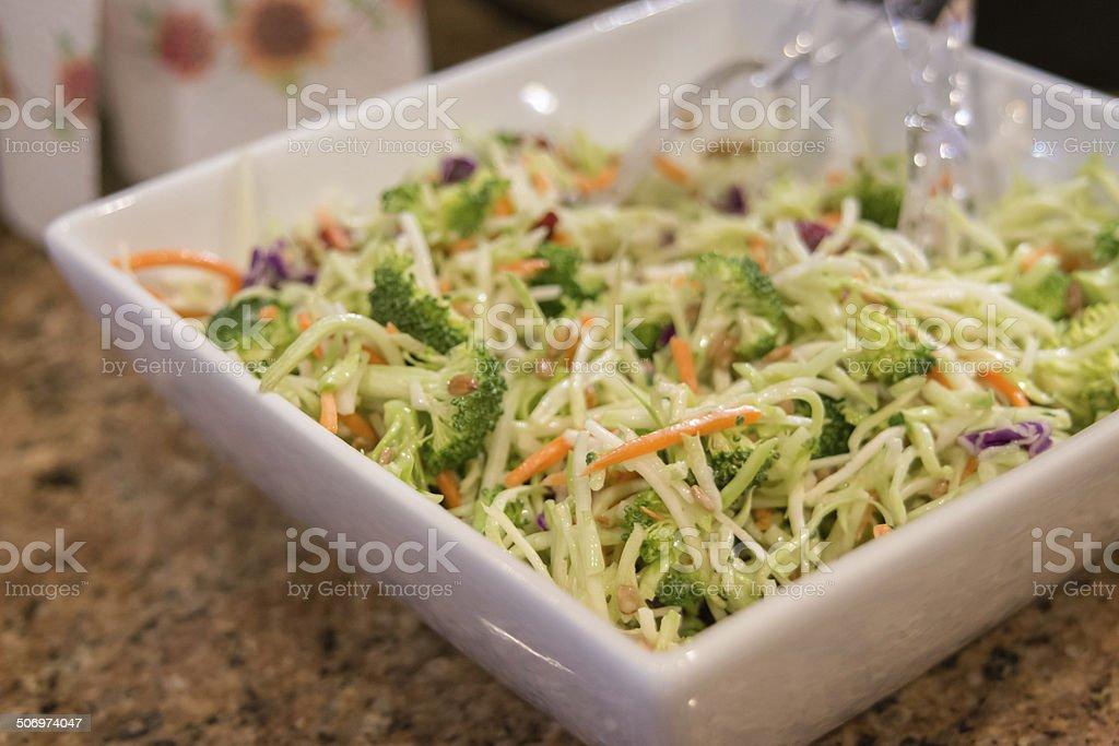 broccoli cole slaw stock photo
