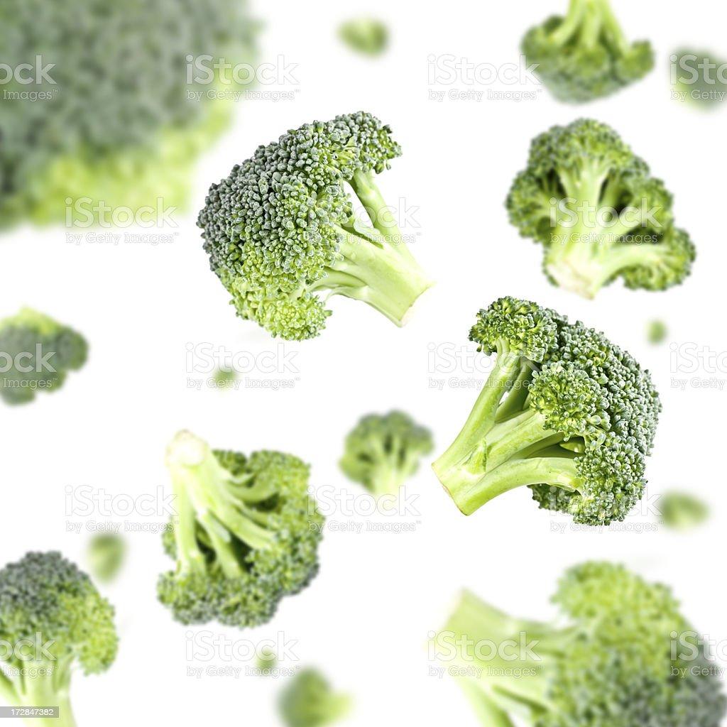 Broccoli Explosion stock photo