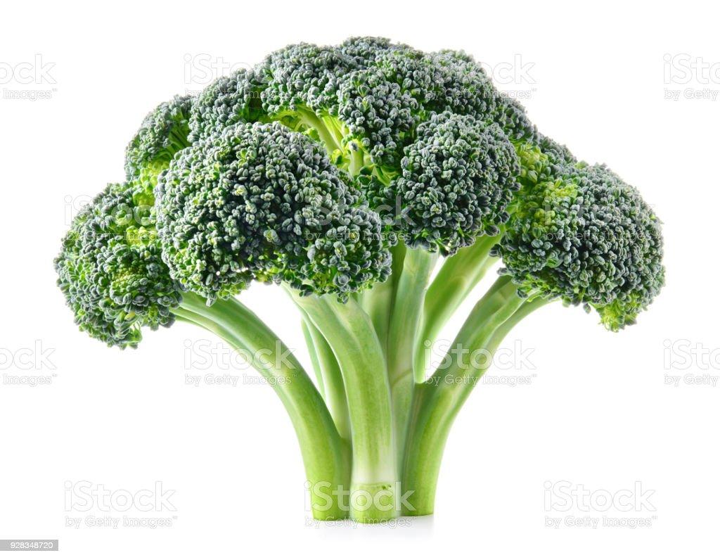 Broccoli. Verse broccoli geïsoleerd op wit. Volledige diepte van het veld. foto