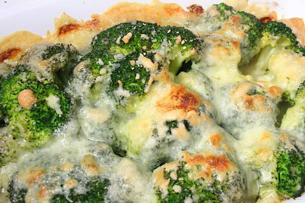 Broccoli Gratin stock photo
