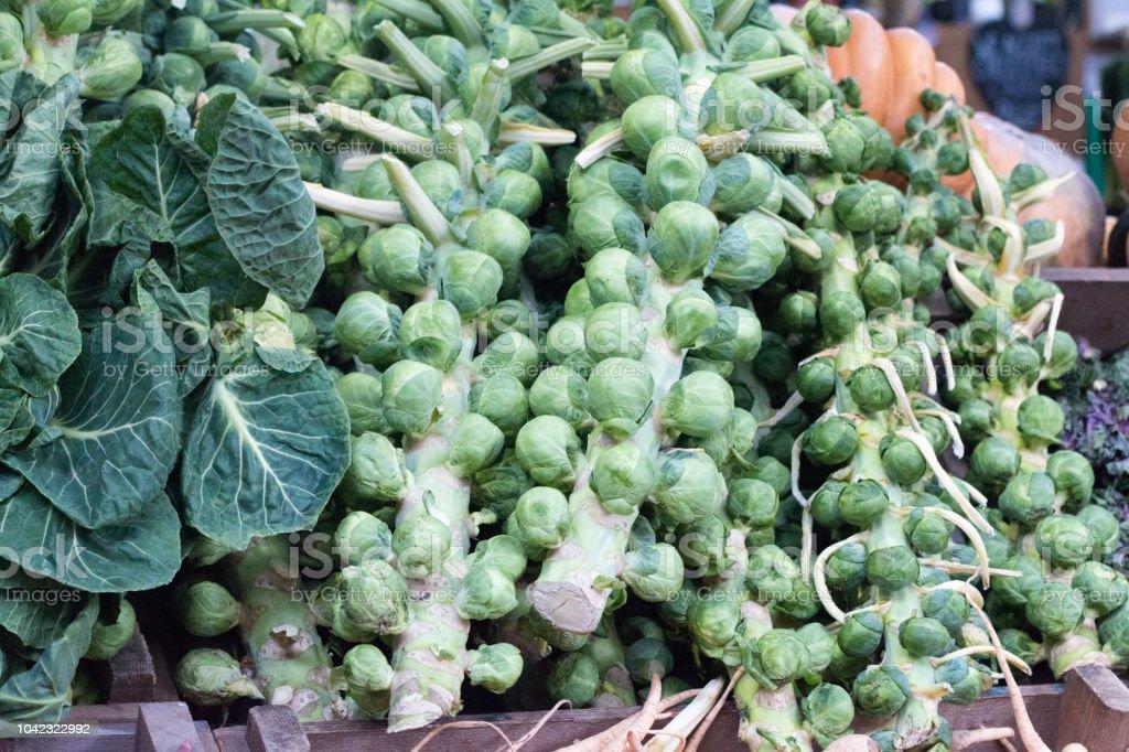 Broccoli in Borough Market, London stock photo
