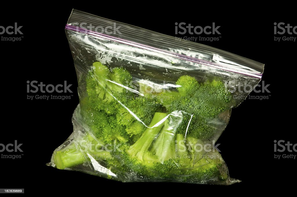 Broccoli in Freezer Bag stock photo