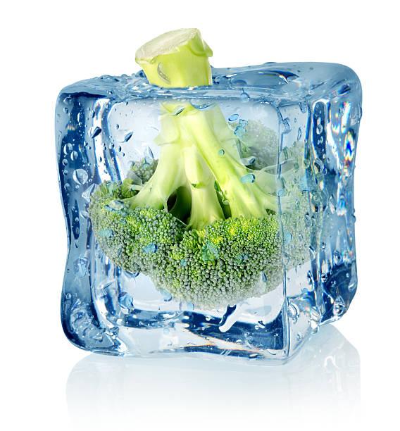 브로콜리 아이스 - 냉동식품 뉴스 사진 이미지